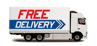 Truck transport - Free delivery Stock Photos