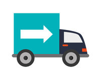 Truck transportation delivery icon Royalty Free Stock Photography