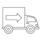 Truck transportation delivery icon Stock Photo