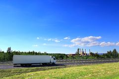 Truck transportation on the road Royalty Free Stock Image