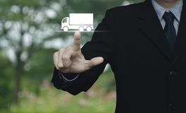 Truck transportation service concept Stock Photo
