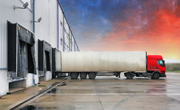 Truck, transportation. In a warehouse stock photography