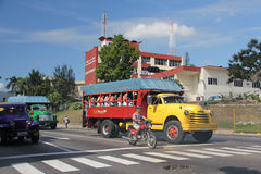 Truck Transporting Passengers in Havana Royalty Free Stock Images