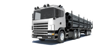Truck transporting pipe Royalty Free Stock Photography