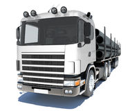Truck transporting pipe Stock Images