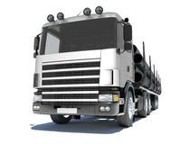 Truck transporting pipe Royalty Free Stock Image
