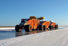 Truck transporting salt on factory Royalty Free Stock Image