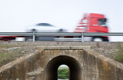 Truck transports cars Stock Photography