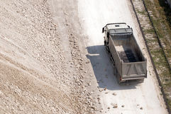 Truck transports clay Stock Images