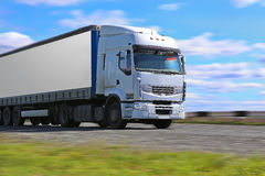Truck transports freight Stock Image