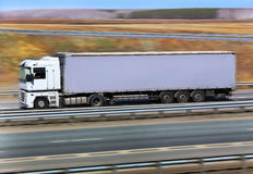 Truck transports freight Royalty Free Stock Image