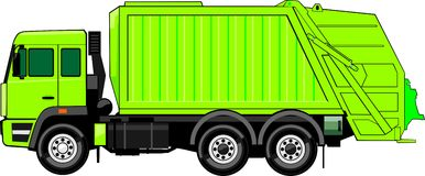 Truck for trash Stock Photo