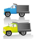 Truck in two different views Royalty Free Stock Photography