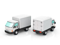 Truck. The two trucks on white background Stock Photo