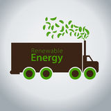 Truck Using Green Clean Energy Royalty Free Stock Image