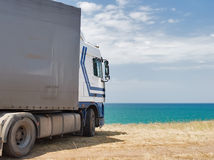 Truck on vacation Royalty Free Stock Photos