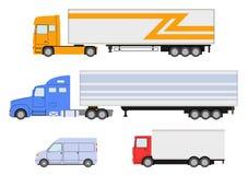 Truck, van icon. Delivery trucks. Stock Image