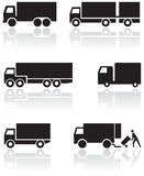 Truck or van symbol vector set. Stock Images