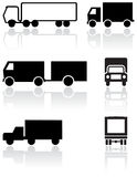 Truck or van symbol vector set. Royalty Free Stock Image