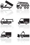 Truck or van symbol vector set. Royalty Free Stock Images