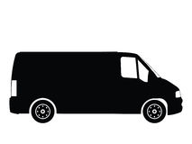 Truck vector 3. Silhouette small truck, vector illustration Royalty Free Stock Photo
