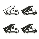 Truck icon set. Truck vector icons set. Black illustration isolated for graphic and web design Stock Photography