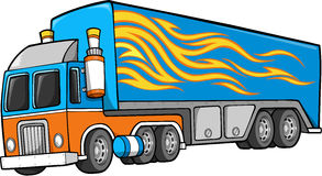 Truck Vector Illustration. Blue Big Truck Vector Illustration Stock Photos