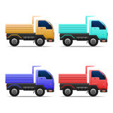 Truck vector set Royalty Free Stock Images