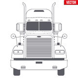 Truck vector symbol for delivery company Royalty Free Stock Photography