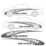 Truck and vehicle decal Graphic design Stock Photo
