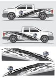 Truck and vehicle decal  Graphic design Stock Photos