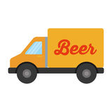 Truck vehicle delivery beer isolated icon stock illustration