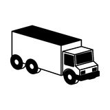 Truck vehicle isometric icon Royalty Free Stock Photos