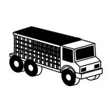 Truck vehicle isometric icon Stock Image