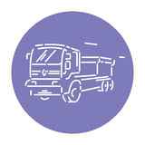Truck vehicle line icon, detailed  sign Royalty Free Stock Images