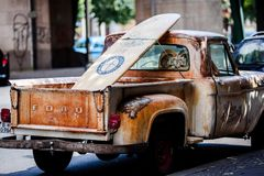 Truck, Vehicle, Transportation, Old Royalty Free Stock Photography