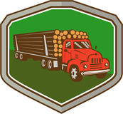 Truck Vintage Logging Shield Retro Stock Photos