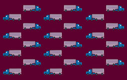 Truck Wall Paper. Trucks arranged in vertical and horizontal rows Stock Image