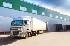 Truck, warehouse royalty free stock photo