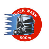 Truck wash cargo freight logo template Royalty Free Stock Photography