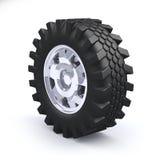 Truck wheel. Big truck wheel  on white background Royalty Free Stock Image