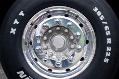 Truck wheel. Royalty Free Stock Photography