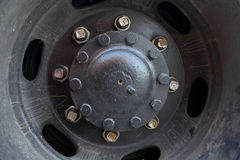 Truck wheel hub Stock Images