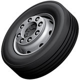 Truck wheel isolated Royalty Free Stock Photos