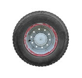 Truck Wheel isolated on white background clipping path Stock Photos