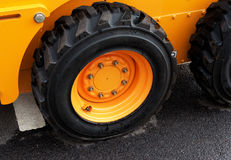 Truck wheel of the large construction vehicle Royalty Free Stock Photos