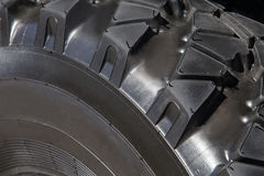 Truck wheel protector closeup Stock Photos