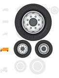 Truck wheels. Royalty Free Stock Photo