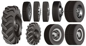 Truck wheels set Royalty Free Stock Photography