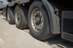 Truck wheels Royalty Free Stock Photography